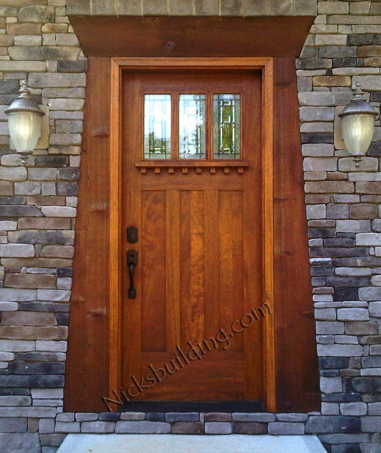 Beautiful Craftsman Style Door, Entry Wood Door, Mission Style Door, Mahogany Door,  Solid