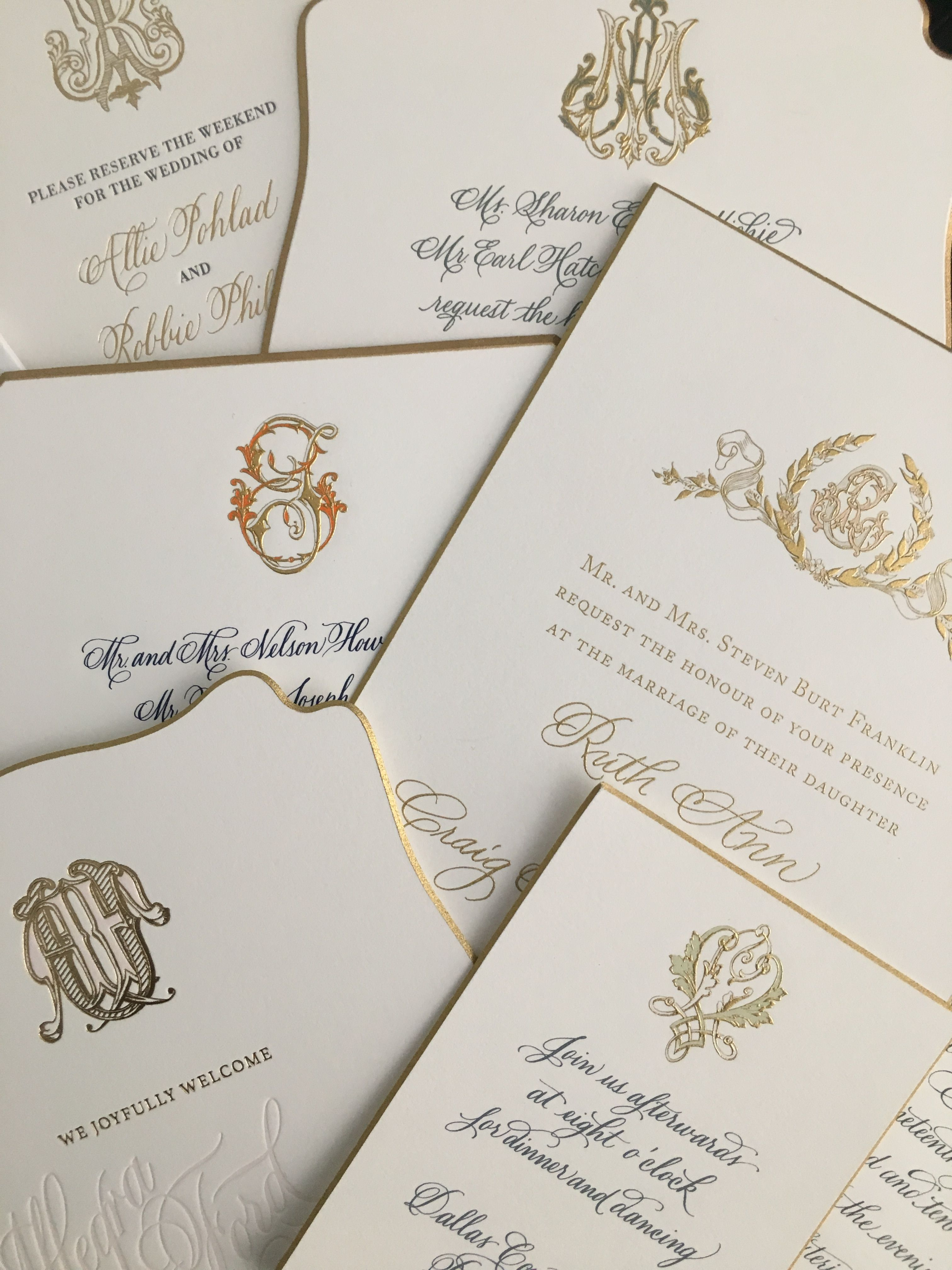Monogram Overload Bellinvito Coutureinvitations Letterpress Wedding Invitations Royal Wedding Invitation Gold Wedding Invitations
