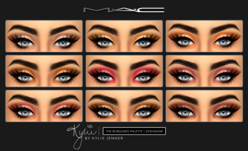 """mac-cosimetics: """" Kylie Cosmetics - KYSHADOW """"The Burgundy Palette"""" by MAC (HQ COMP.) Featuring 9 gorgeous colors, Kylie Jenner's new Burgundy palette is sure to catch anyone's eye as it provides everything you need to create the perfect fall eye..."""