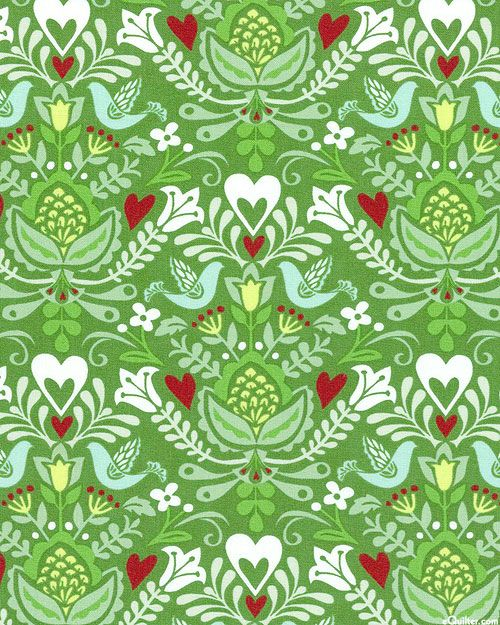North Woods - Christmas Bouquet - Quilt Fabrics from www.eQuilter.com