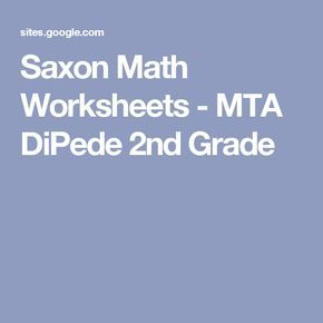 Saxon Math Worksheets Mta Dipede 2nd Grade Math Worksheets Saxon Math Math