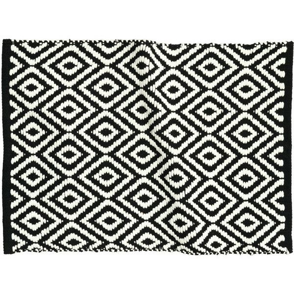 H&M Bath mat ($12) ❤ liked on Polyvore featuring home, bed & bath, bath, bath rugs, black, black bathroom rugs, h&m, cotton bath mat, cotton bathroom rugs and black bath mat