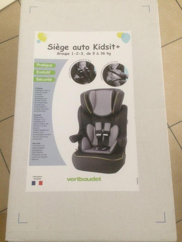 2399c45759ef Siege Auto KIDSIT+ 9-36kg   Puériculture - Enfants   Pinterest