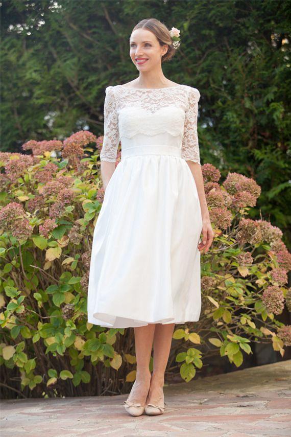 Robe de mariée rétro chic année 50 courte - Robe Manon | Recettes à ...