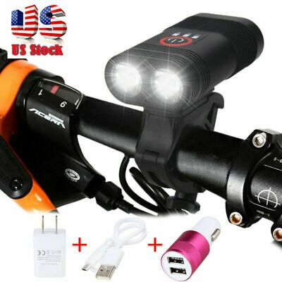 Sponsored Ebay 20w Xm L T6 Led 3000lm Rechargeable Bicycle Head