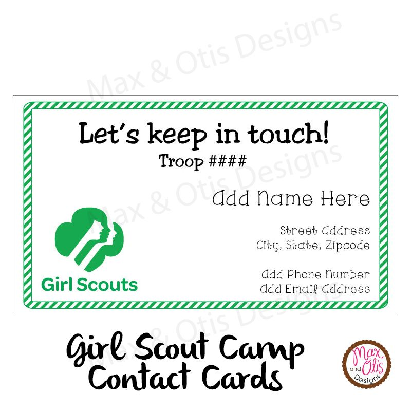 Girl scout camp contact cards to keep in touch with friends girl scout camp contact cards to keep in touch with friends printable 500 colourmoves Image collections