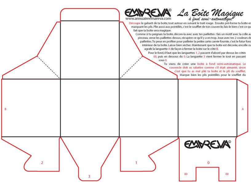 Bo te carton pour d coration recherche google gabarit embossage pintere - Decoration boite carton ...