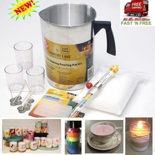 Kerzenherstellung Anfänger Set Kit £ Wachs 3 Tassen 9 Docht Zubehör Farbe Licht Art C,  #Anfä... #candlemakingbusiness