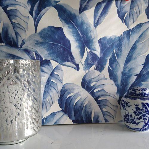 Details about Wallpaper Banana Leaf Fine Textured Large