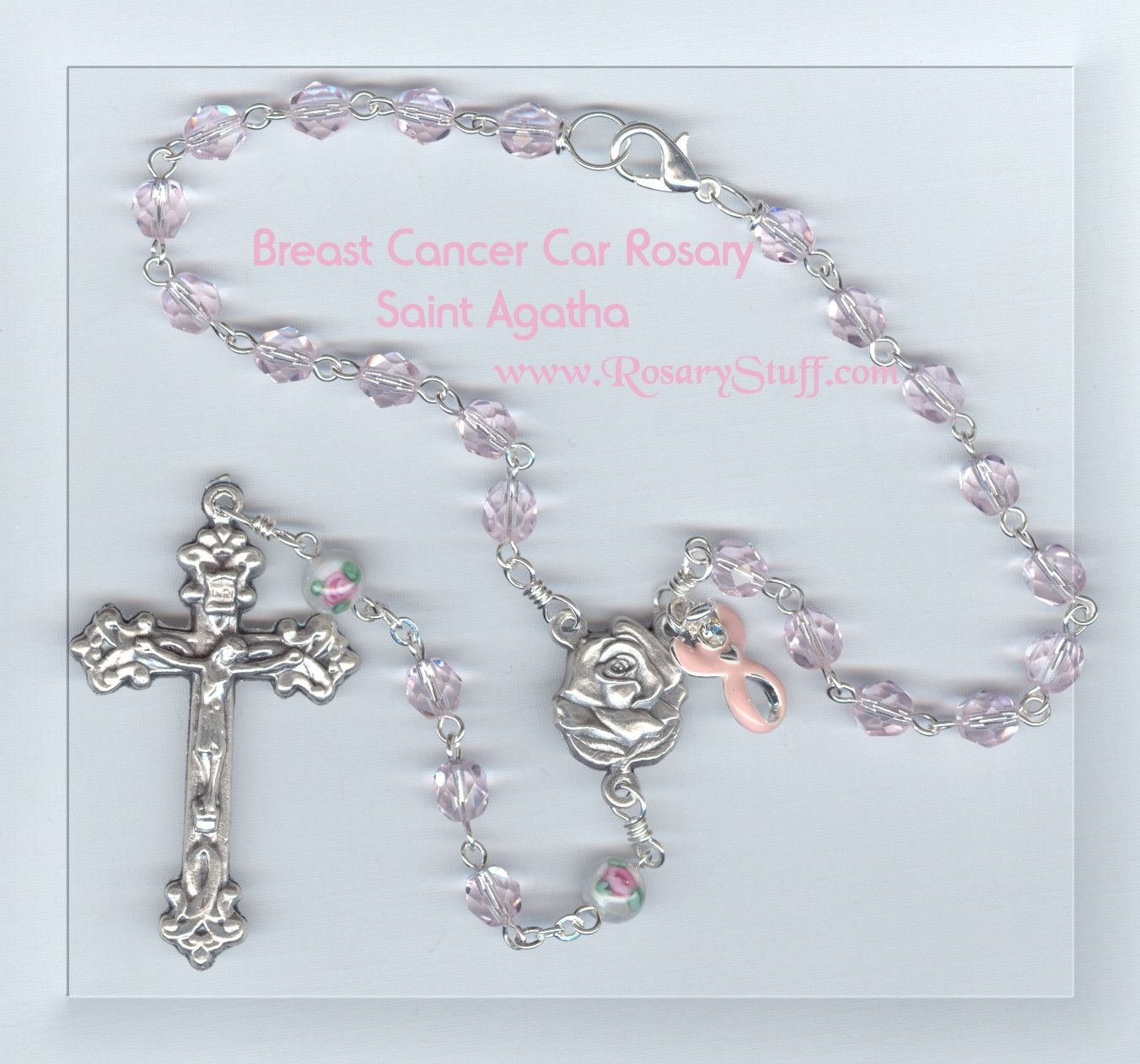 Cancer Car Rosary for Charity ~ St. Agatha | Crucifix and ...