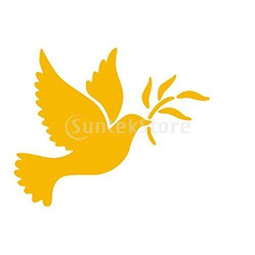 Pochoir de peinture murale motif colombe de la paix maison for Pochoir peinture