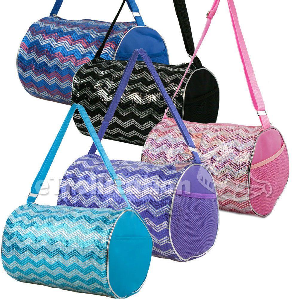 6d04e59fdf Kids Dancewear 152345  Kid S Girls Dance Chevron Wave Sequin Duffle Bag  Gymnastics Cheer Colors Option -  BUY IT NOW ONLY   12.34 on  eBay   dancewear  girls ...