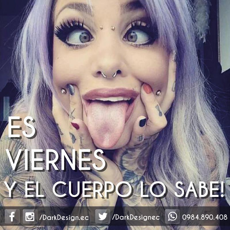 FELIZ VIERNES PARA TODOS!!!! AL CUERPO NO SE LE PUEDE MENTIR Studio Tattoo Shop #DarkDesignec #ValleDeLosChillos #Tatuajes #Tattoo #Sangolqui #TatuajesEcuador