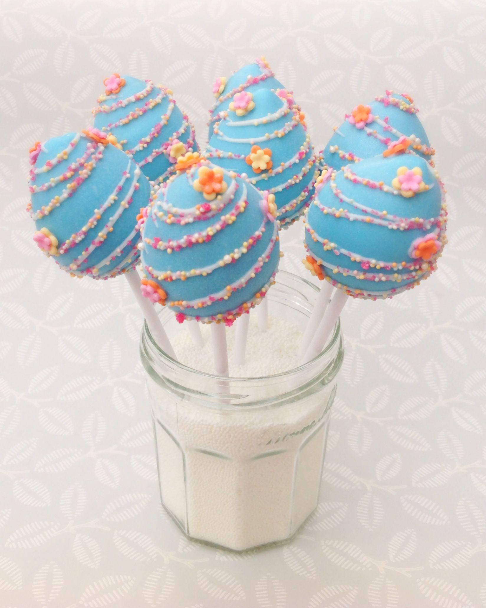 Pretty Easter Egg Cake Pops