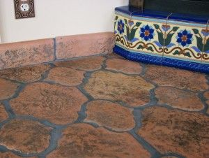 Antique Saltillo Tile In The Riviera Pattern Alongside Relief Texture Talavera Painted Mexican Tiles