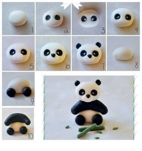 Wie man mit Kindern Modelliermasse macht - Schritt für Schritt Muster - Anniversaire - Kuchen...