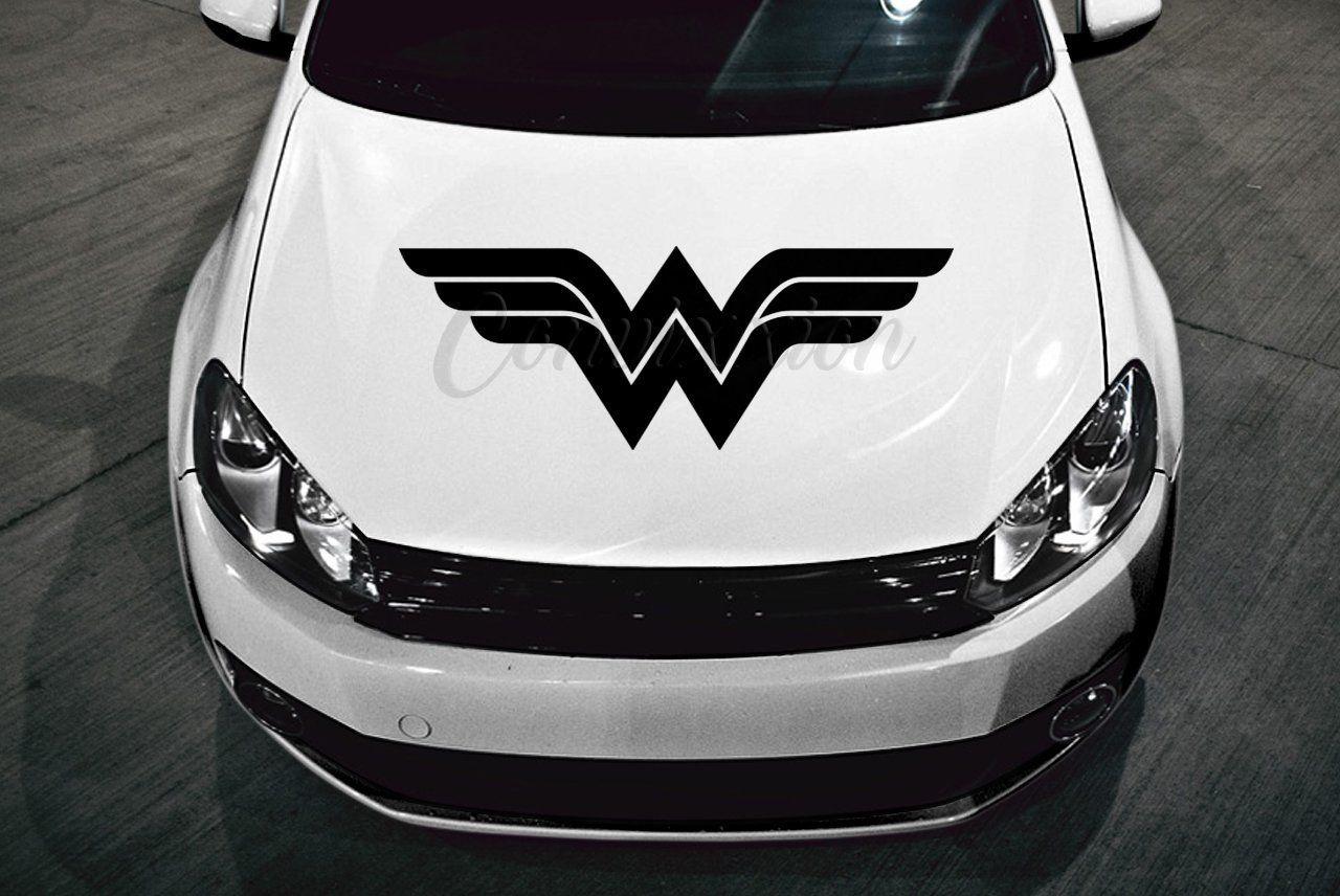 Classic Wonder Woman Car Hood Decal 32 Choose Color Handmade Batman Backgrounds Wonder Woman Women [ 856 x 1280 Pixel ]