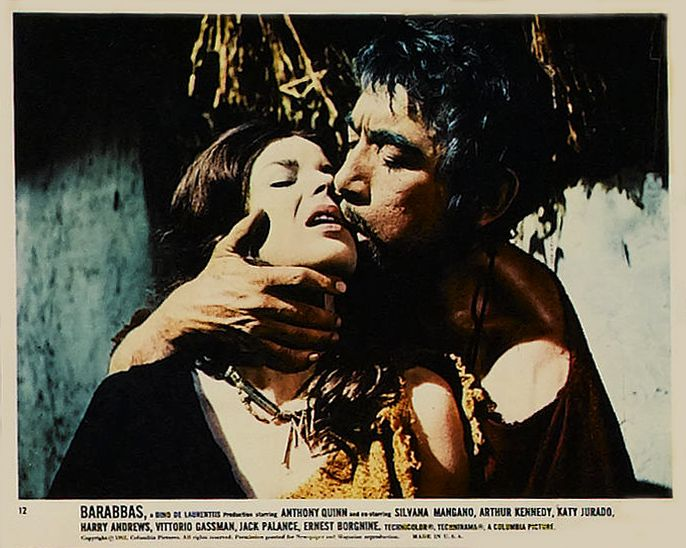 Anthony Quinn Als Barabas In Barabbas 1961 Met In De Hoofdrollen