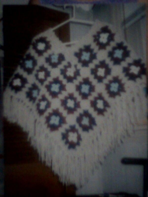 Poncho de dama en crochet