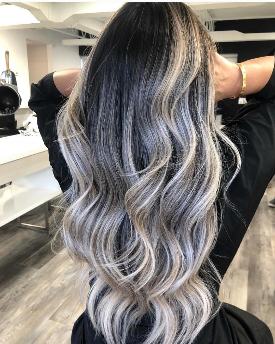 Balayage Beautiful Hair On Instagram Snow Caps By Dvcolour Bestofbalayage Showmethebalayage Natural Wavy Hair Balayage Hair Grey Balayage