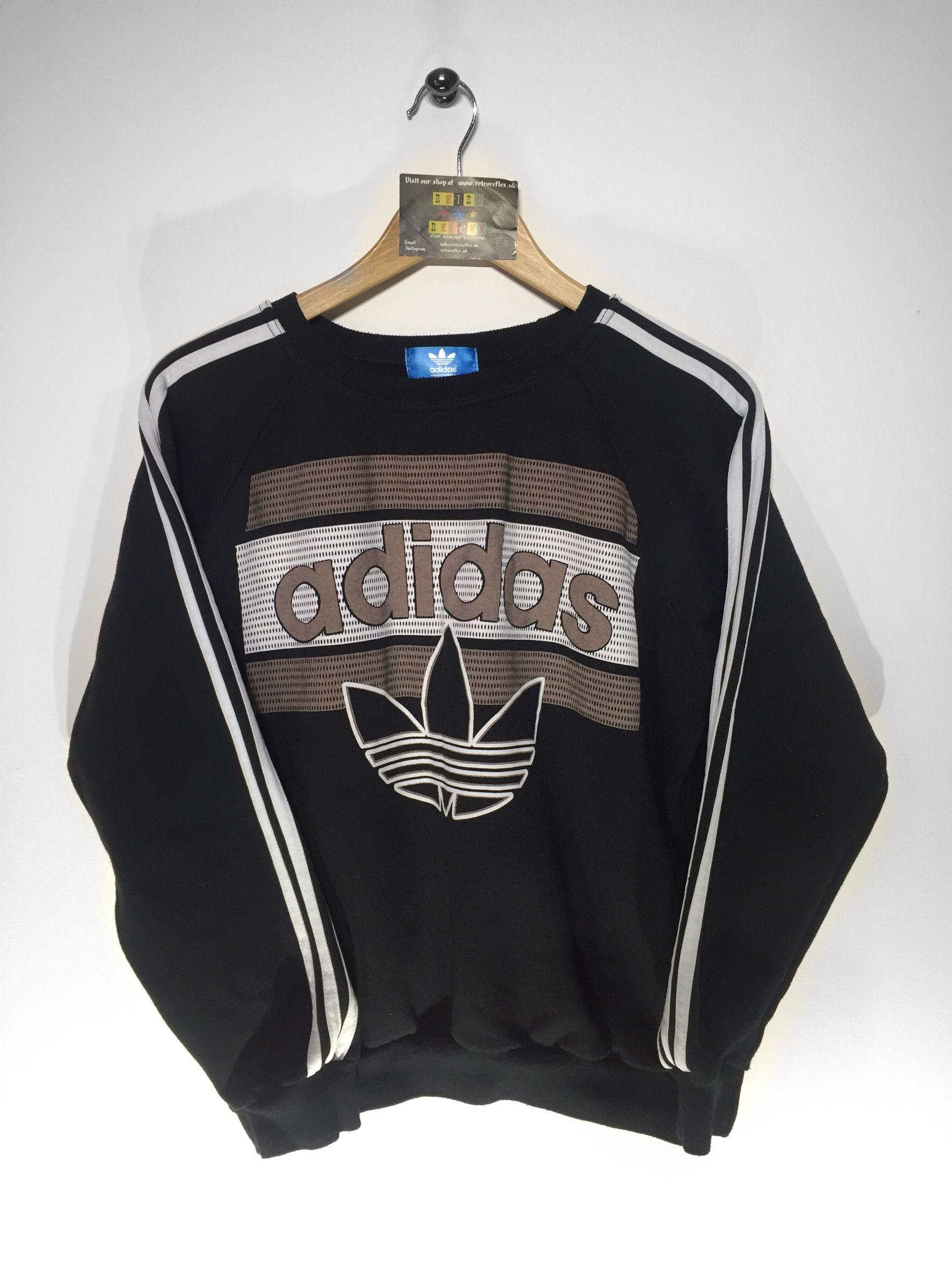 Adidas Originals trefoil Block It Out Crew Neck Sweatshirt