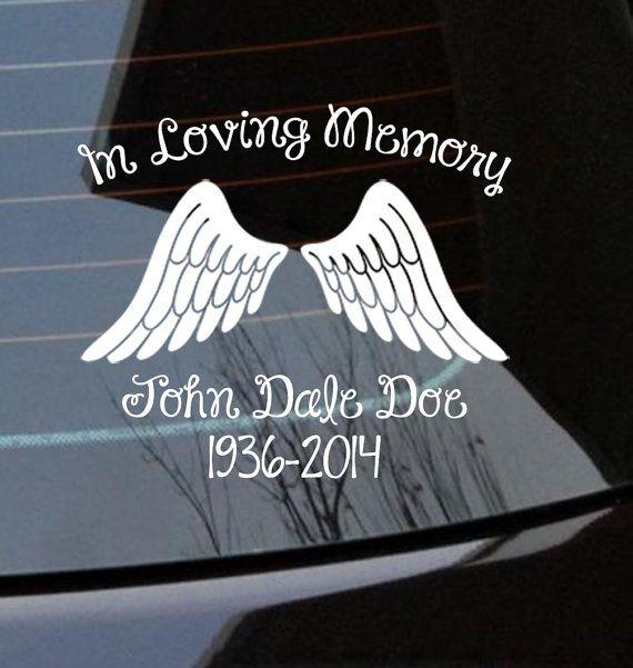 Custom in loving memory car window decal by jenscustomgraphics 6 50 jens custom graphics