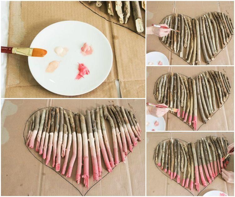Basteln Mit ästen ein herz aus ästen und zweigen basteln anleitung bastelideen