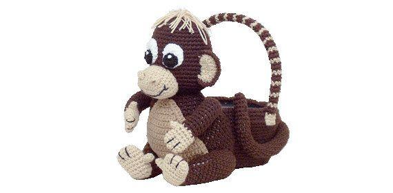 PDF Crochet Monkey Easter Basket. Amigurumi by Tdcreationscrochet, $4.29