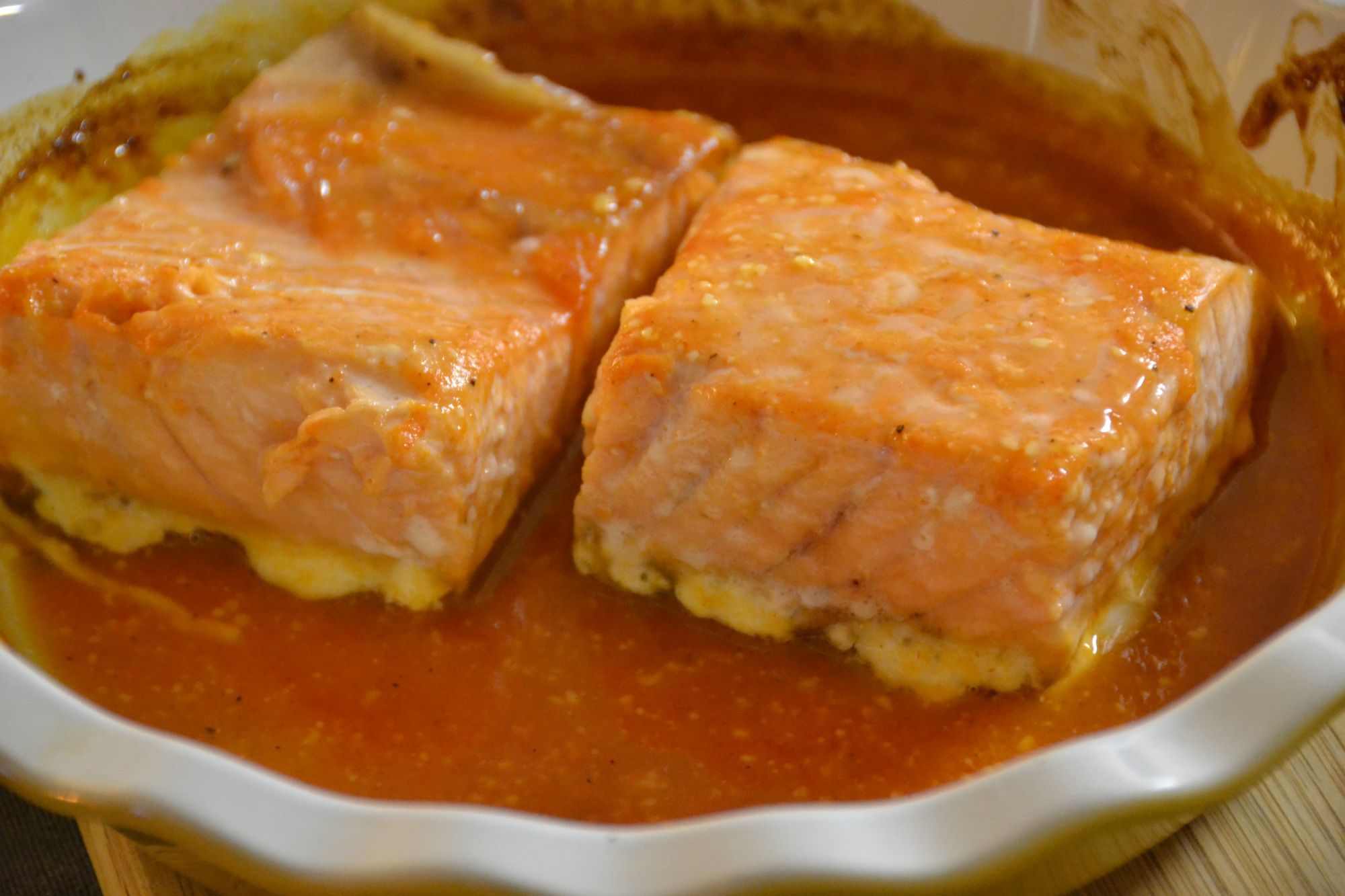 Dsc_0282 sriracha salmon cooking salmon workout food