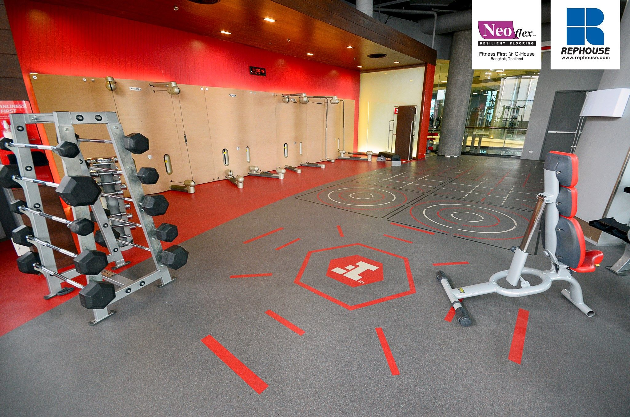 Neoflex 600 Series REPtiles with Graphics @ Fitness First Platinum Q-House  Lumpini, Thailand
