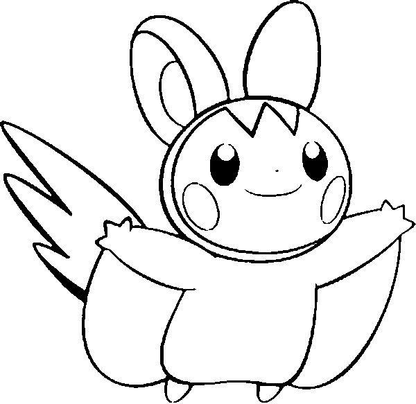 coloring pages pokemon emolga drawings pokemon