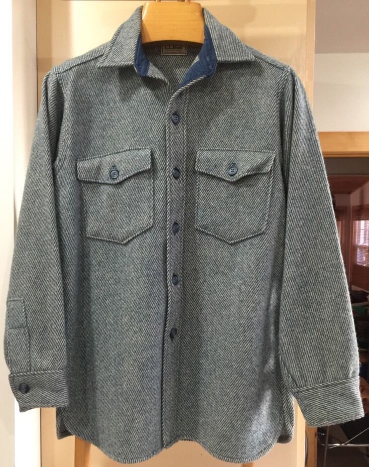 de8004f1f72eb Vtg ll Bean Northwoods 100 Wool Herringbone Heavy Shirt Hunting Mens Size M  | eBay