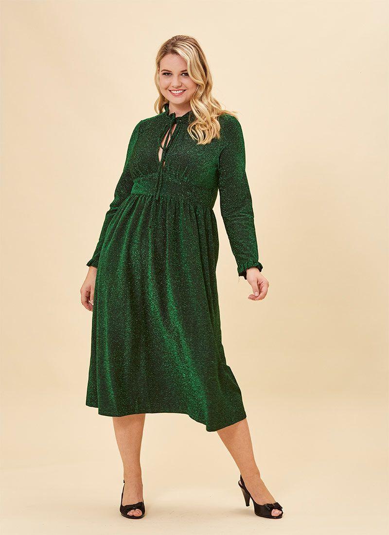 Sparky Metallic Midi Dress Green Midi Dress Long Sleeve Sparkly Dress Long Sleeve Midi Dress [ 1100 x 800 Pixel ]