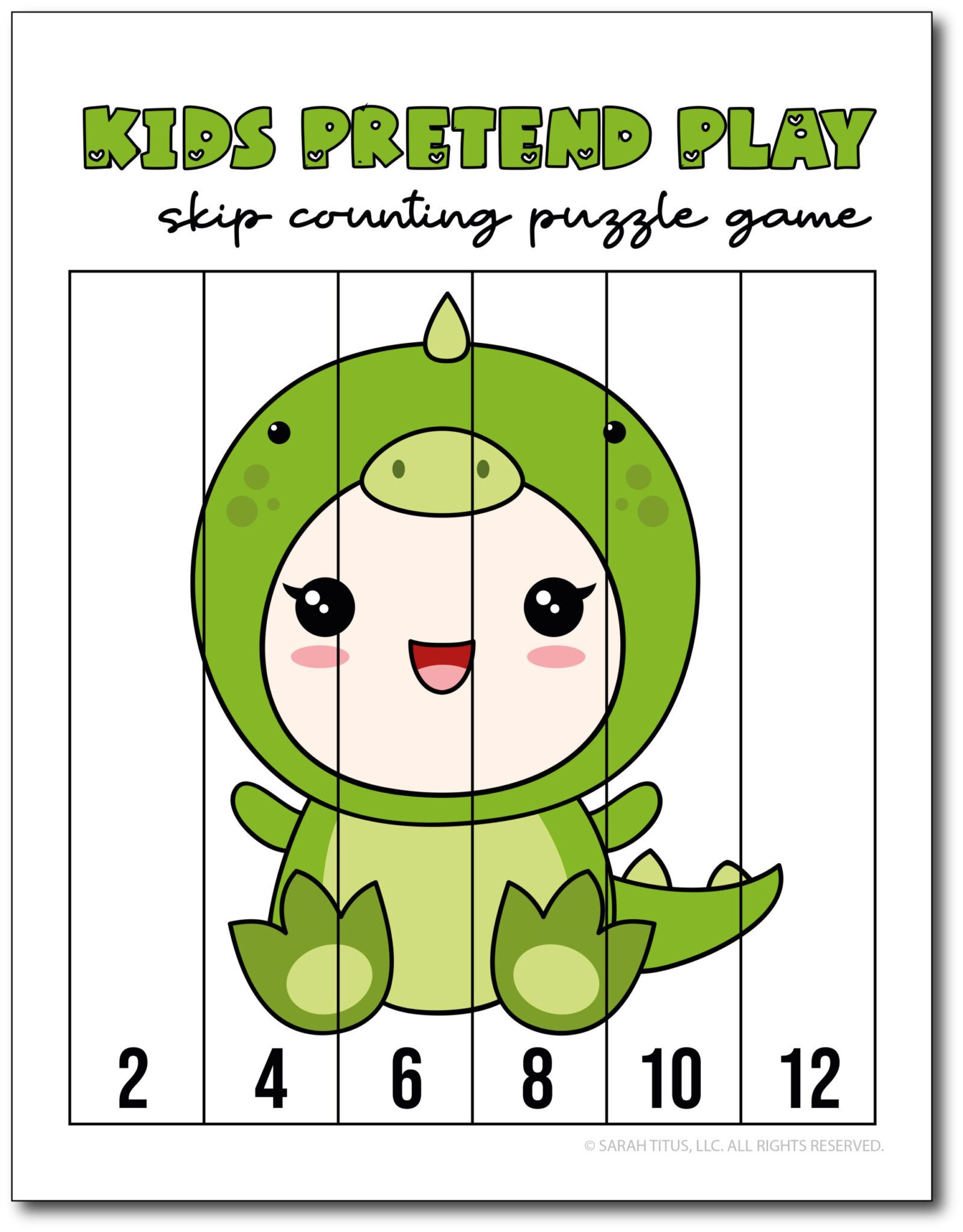 Skip Counting By 2s Game Puzzle In
