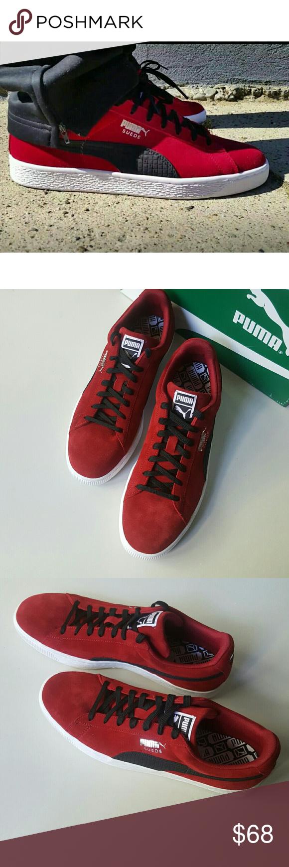 Puma Rio Red Suede Sneakers Red Suede Suede Sneakers Suede