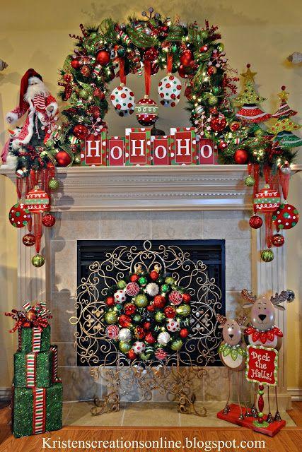 Christmas Home Tour Mantle, Christmas decor and Holidays - christmas fireplace decor