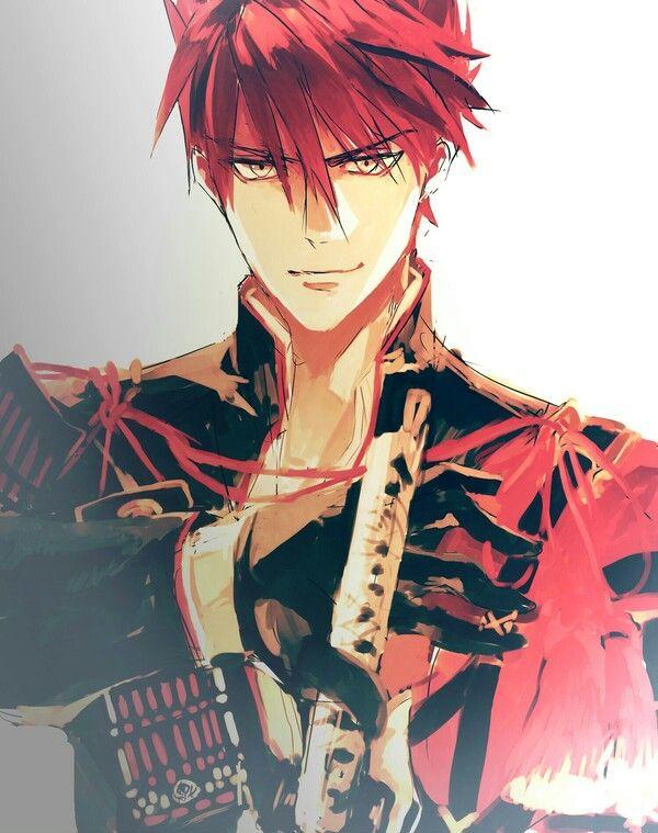 Pin By Shizuku On Touken Ranbu Red Hair Anime Guy Touken Ranbu Anime Eyes