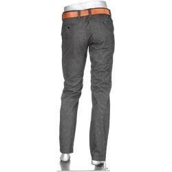 Pantalon dété pour homme  Pantalon Chino Lou pour homme Alberto coupe slim coton gris anthracite chiné Albertoalberto