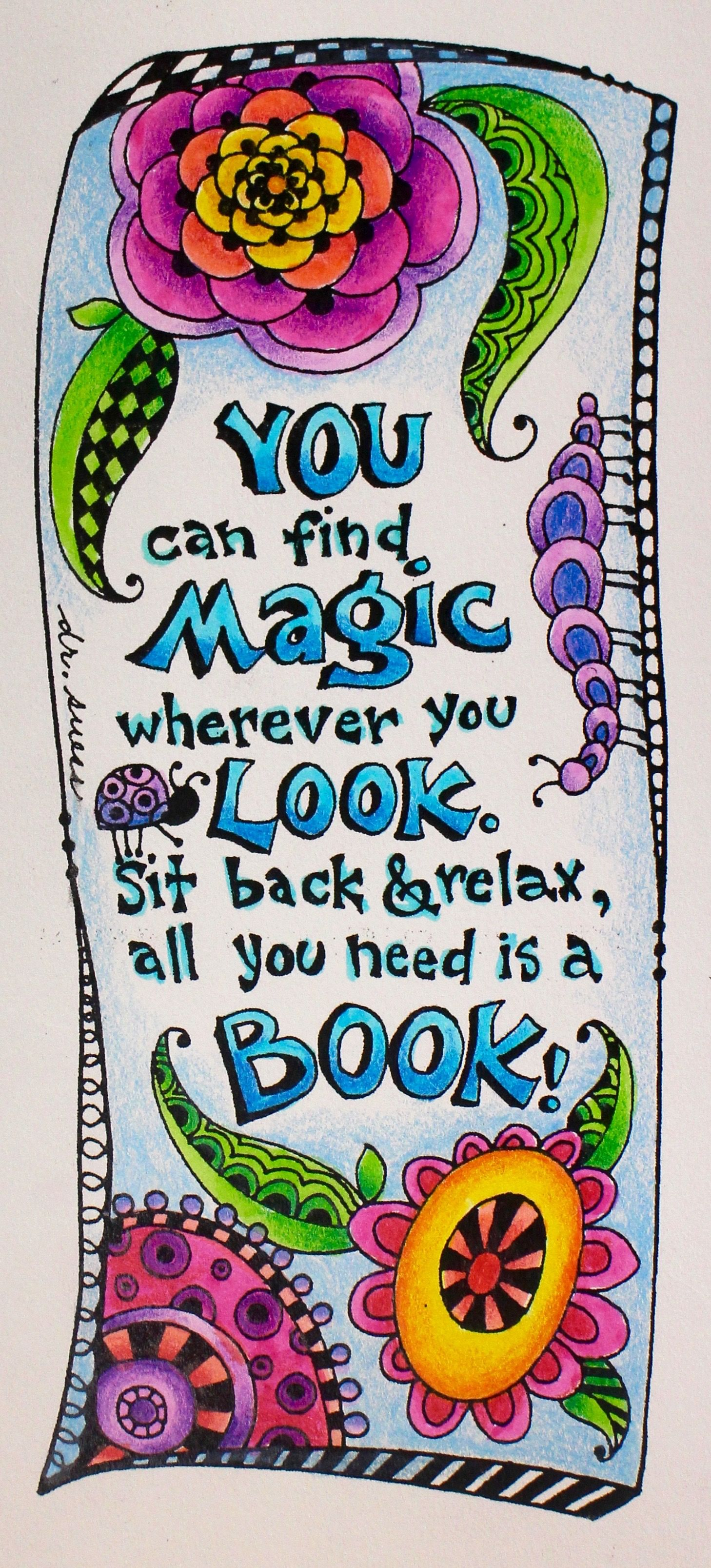 Free Dr. Seuss Inspired Coloring Bookmarks for National Read Across ...