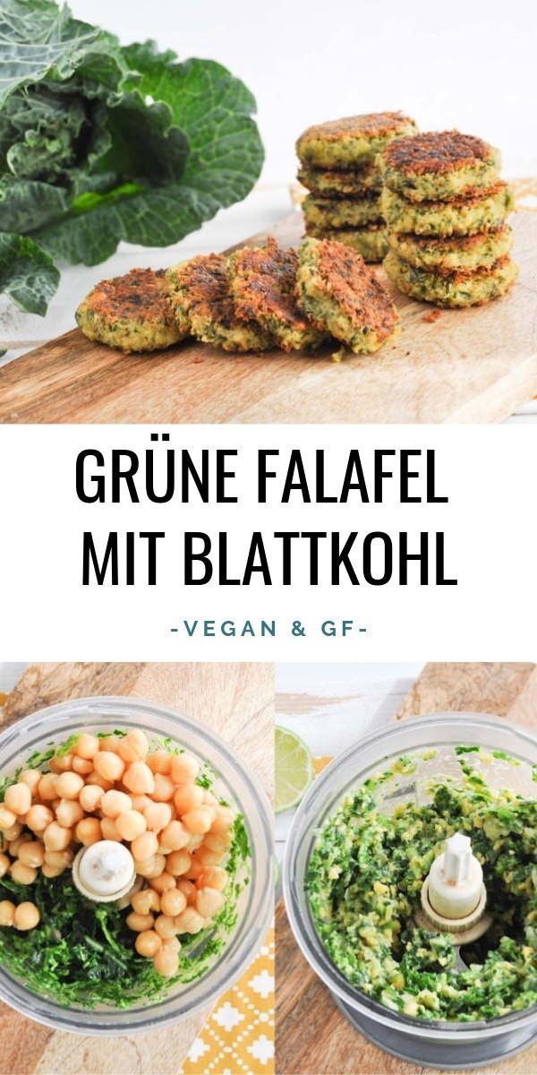 Grüne Falafel mit Blattkohl (vegan und glutenfrei) |ElephantasticVegan.de #vegan #falafel #glutenfrei #grün #blattkohl #vegetariandish