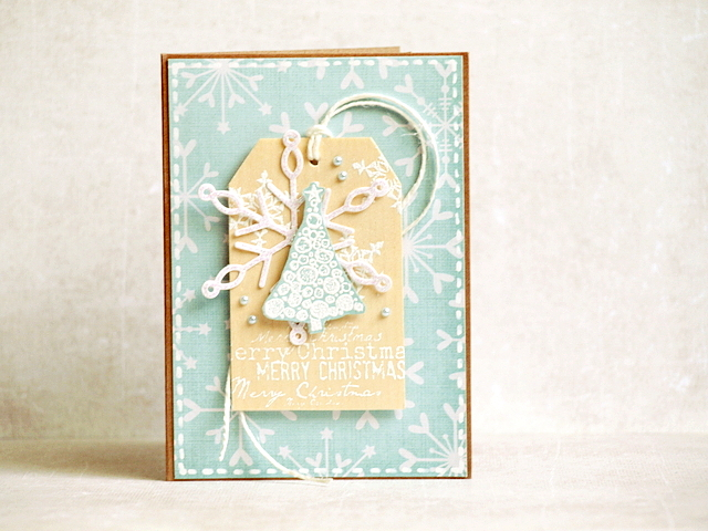 #christmas #card by Agnieszka D using stamp from 3rd Eye