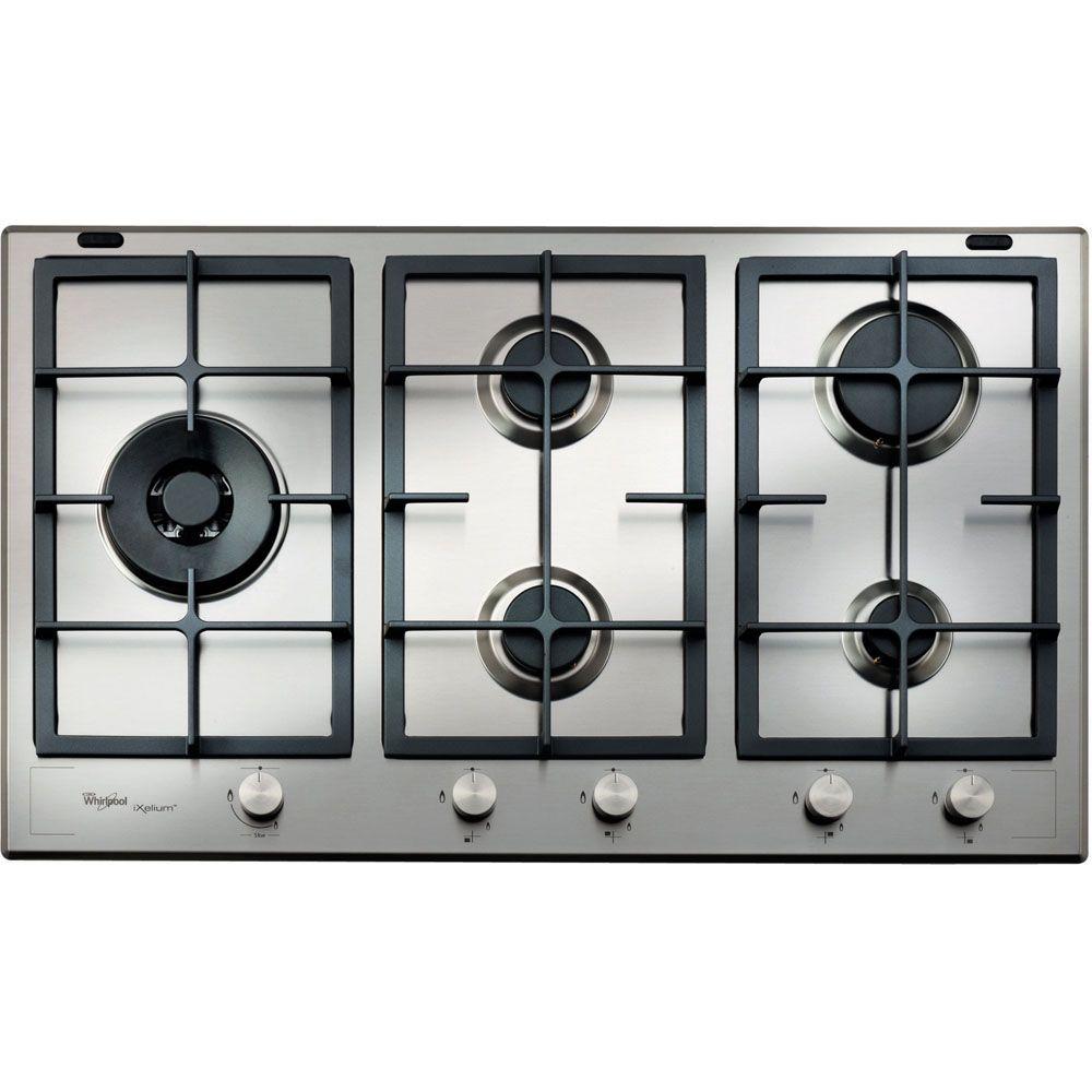 Piano cottura a gas Whirlpool: 5 fuochi - GMF 9522/IXL | Idee per la ...