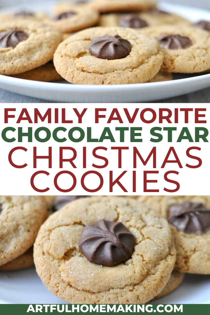 Artful Homemaking Chocolate Star Cookies are a traditional Christmas cookie recipe Make these for your next Christmas cookie exchange or holiday party