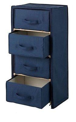 Canvas 4 #drawer #chest storage unit navy blue #polycotton u0026 wood bedroom furnitu  sc 1 st  Pinterest & Canvas 4 #drawer #chest storage unit navy blue #polycotton u0026 wood ...