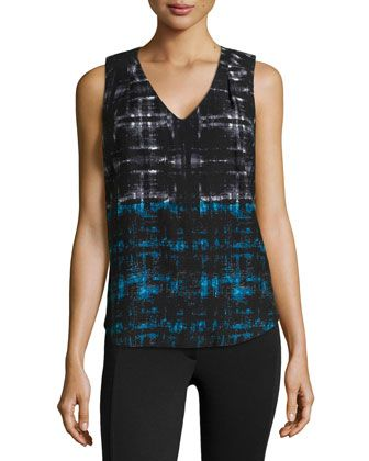 46a2152d3a6 Abstract-Print Jersey Tank Top