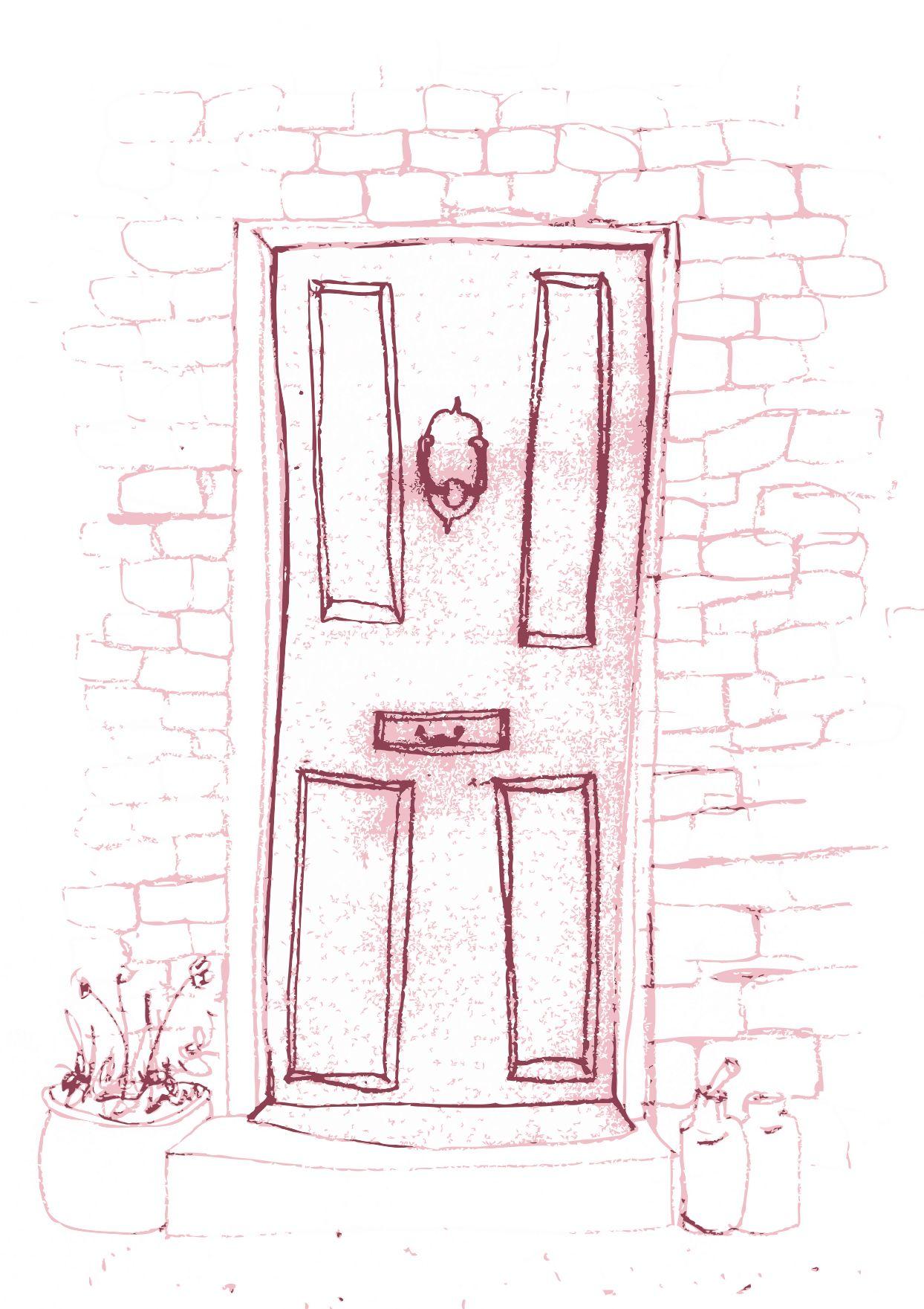 Front door drawing illustrations pinterest