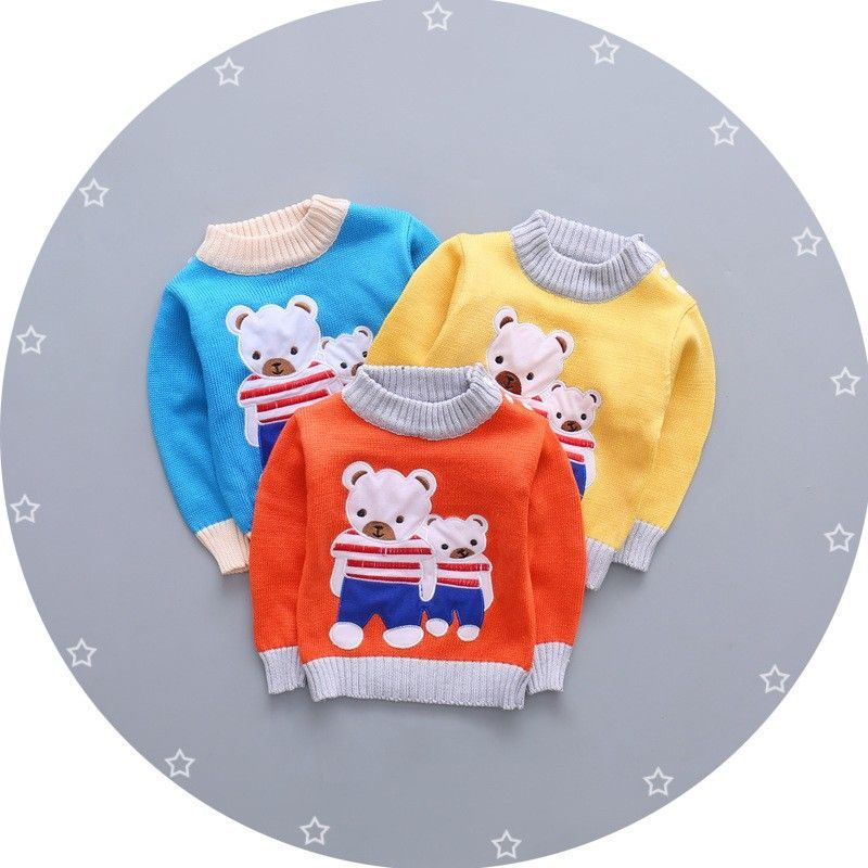 a663d5a125a3 Nice BibiCola 2017 baby girls boys autumn wear warm cartoon sweaters ...