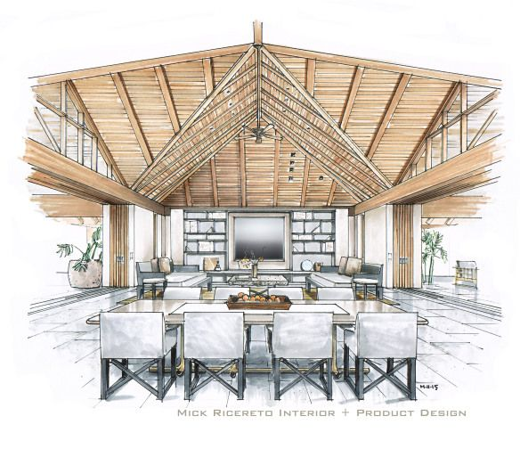 Awesome Hawaii Resort Interior Rendering