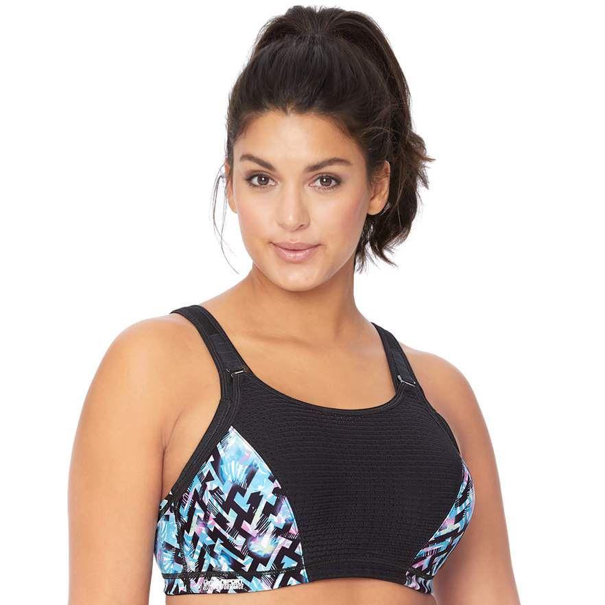 glamourise full figure sports bra High impact sports bra