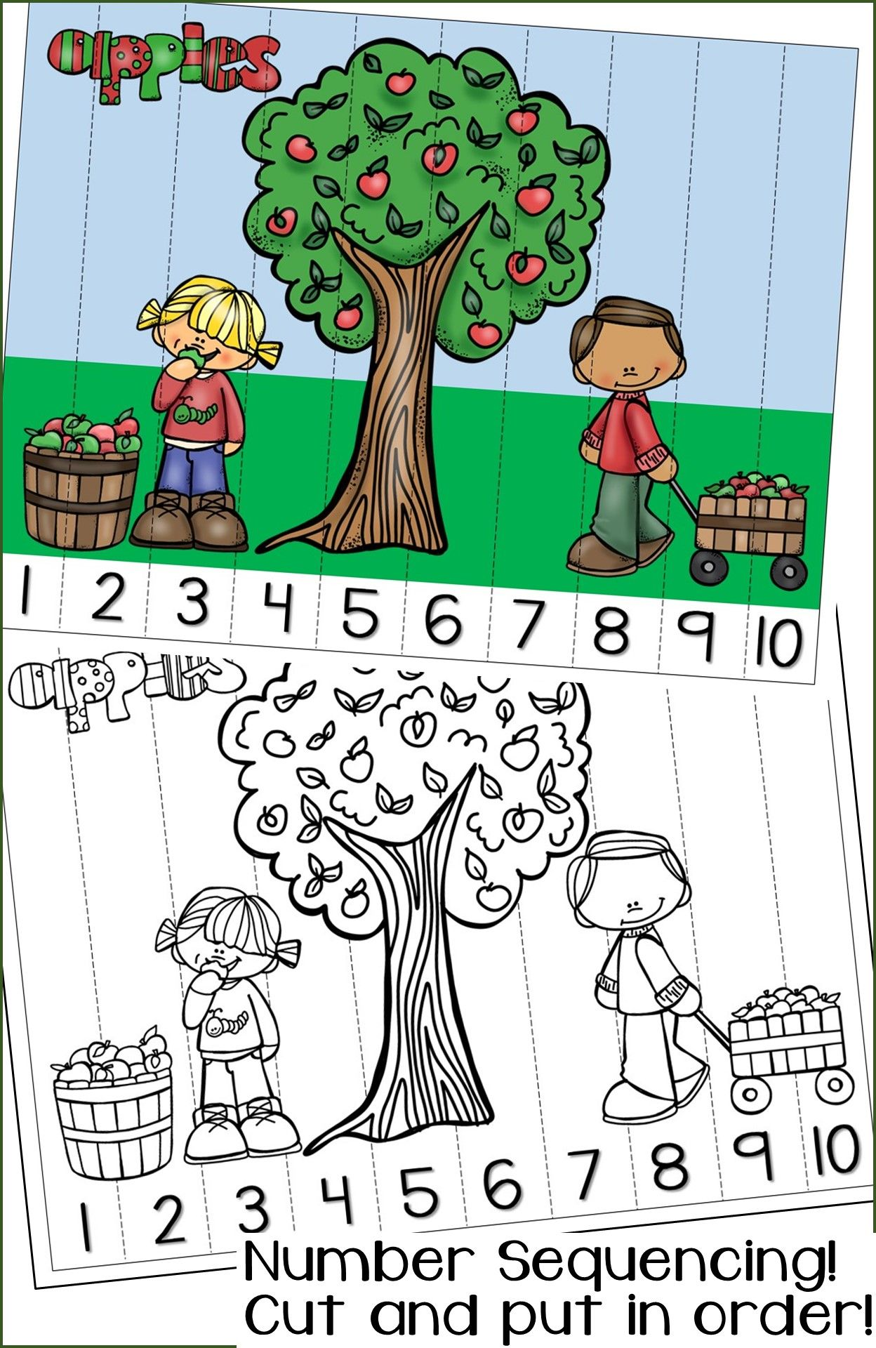 Fall Number Sequencing Puzzles Numbers 1 120